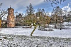 Invierno en el parque de Kronenburg imagenes de archivo