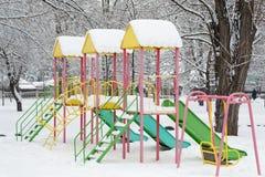 Invierno en el parque de la ciudad Fotos de archivo