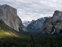 Invierno en el parque de Yosemite Fotografía de archivo libre de regalías