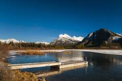 Invierno en el parque nacional de Banff Fotos de archivo libres de regalías