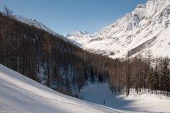 Invierno en el valle de Rhemes Foto de archivo