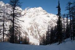 Invierno en el valle de Rhemes Imagen de archivo