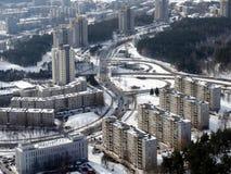 Invierno en el Vilnius Imagen de archivo libre de regalías