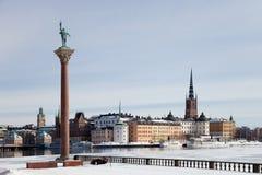 Invierno en Estocolmo fotos de archivo
