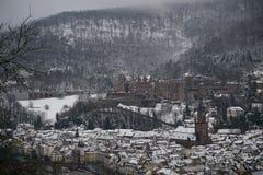 Invierno en Heidelberg Foto de archivo libre de regalías
