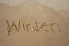 Invierno en la arena Foto de archivo libre de regalías