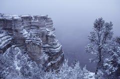 Invierno en la barranca magnífica Imagen de archivo libre de regalías