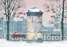 Invierno en la ciudad stock de ilustración