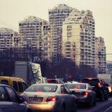 Invierno en la ciudad Foto de archivo libre de regalías