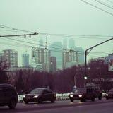 Invierno en la ciudad Fotografía de archivo libre de regalías