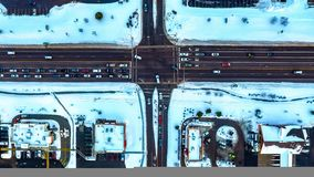 Invierno en la ciudad Imagen de archivo