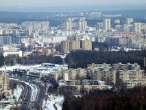 Invierno en la ciudad de Vilnius Fotografía de archivo