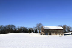 Invierno en la granja fotos de archivo