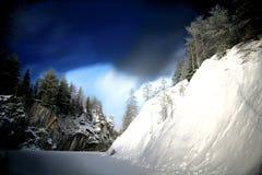 Invierno en la montaña de mármol Foto de archivo libre de regalías