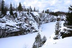 Invierno en la montaña de mármol Nevado Imagen de archivo