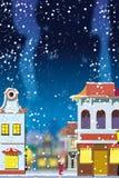 Invierno en la pequeña ciudad europea libre illustration