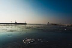 Invierno en la playa Fotos de archivo