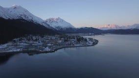 Invierno en la playa de Alaska