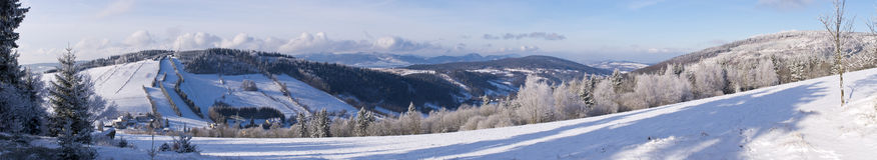 Invierno en las colinas Fotos de archivo