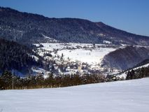 Invierno en las colinas, Croacia Fotografía de archivo libre de regalías