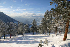 Invierno en las montañas Fotografía de archivo libre de regalías