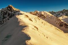 Invierno en las montañas Imágenes de archivo libres de regalías