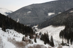 Invierno en las montañas Imagenes de archivo