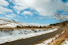 Invierno en los faros de Brecon de País de Gales Imagen de archivo libre de regalías