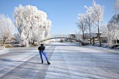 Invierno en los Países Bajos foto de archivo