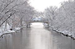 Invierno en Madison, Wisconsin Imagen de archivo libre de regalías