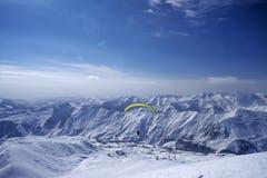 Invierno en mayores montañas del Cáucaso Foto de archivo