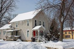 Invierno en Michigan Imagenes de archivo