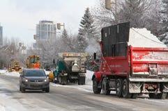 Invierno en Montreal Imágenes de archivo libres de regalías