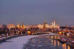 Invierno en Moscú fotografía de archivo libre de regalías