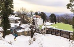 Invierno en Murree, Paquistán Imagen de archivo libre de regalías