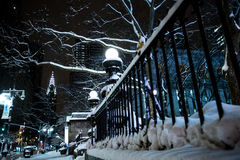 Invierno en New York City Imágenes de archivo libres de regalías