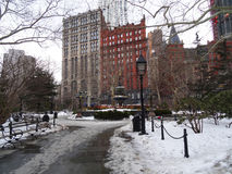 Invierno en Nueva York Foto de archivo