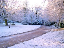Invierno en Padiham Lancashire Imagen de archivo libre de regalías