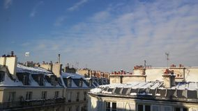 Invierno en París Imagen de archivo libre de regalías