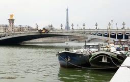 Invierno en París imagenes de archivo
