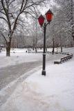 Invierno en Riga Imagen de archivo libre de regalías
