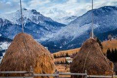 Invierno en Rumania imagenes de archivo