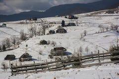 Invierno en Rumania Fotos de archivo libres de regalías