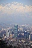 Invierno en Santiago Foto de archivo
