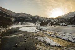 Invierno en Shirakawago Imagen de archivo