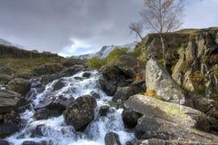 Invierno en Snowdonia Fotos de archivo