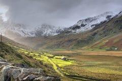 Invierno en Snowdonia Foto de archivo libre de regalías