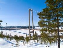 Invierno en Suecia norteña Imagenes de archivo