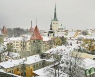Invierno en Tallinn Foto de archivo libre de regalías