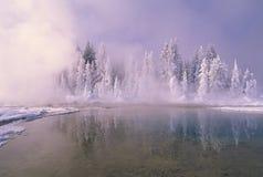 Invierno en Yellowstone Imágenes de archivo libres de regalías